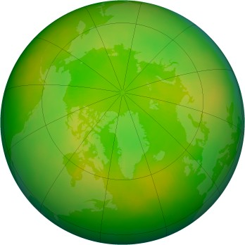 Arctic ozone map for 2003-06