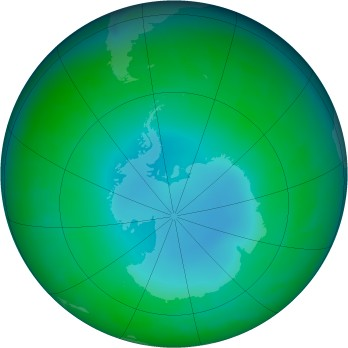 Antarctic ozone map for 2003-06