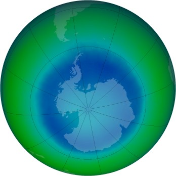 August 2003 monthly mean Antarctic ozone