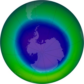 September 2003 monthly mean Antarctic ozone
