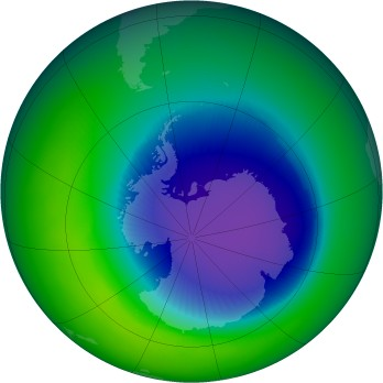 October 2003 monthly mean Antarctic ozone