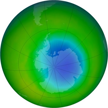 Antarctic ozone map for 2003-11