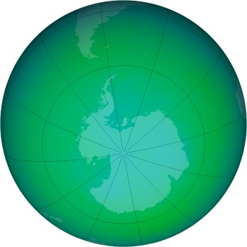 December 2003 monthly mean Antarctic ozone