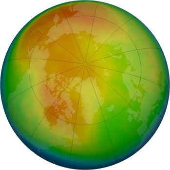 Arctic ozone map for 2004-02
