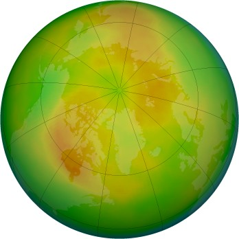 Arctic ozone map for 2004-05