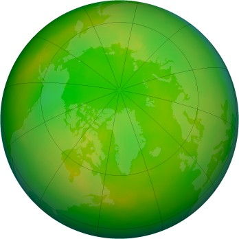 Arctic ozone map for 2004-06