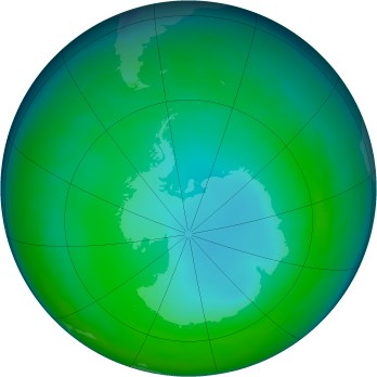 Antarctic ozone map for 2004-07