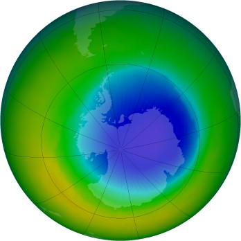 Antarctic ozone map for 2004-10