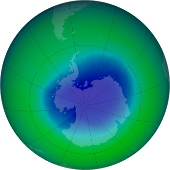 November 2004 monthly mean Antarctic ozone