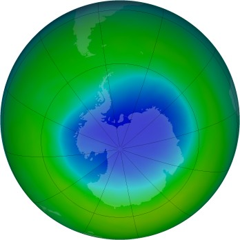 Antarctic ozone map for 2004-11