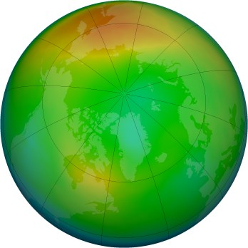 Arctic ozone map for 2005-01