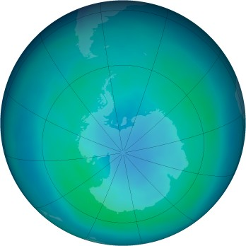 Antarctic ozone map for 2005-03
