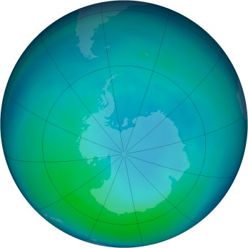 Antarctic ozone map for 2005-04