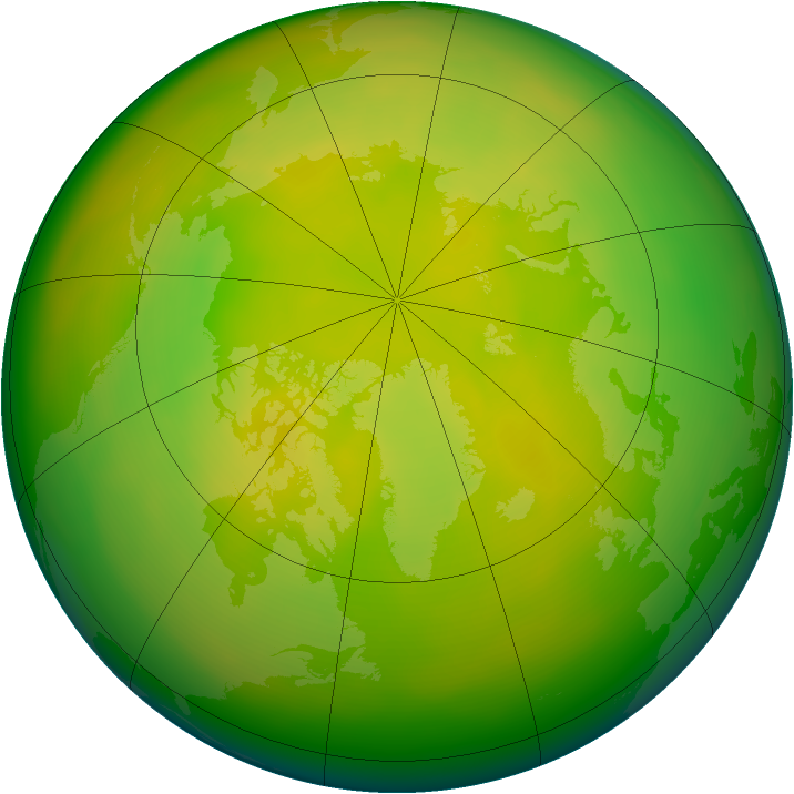 Arctic ozone map for May 2005