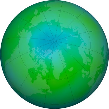 Arctic ozone map for 2005-08