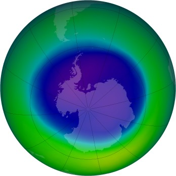 September 2005 monthly mean Antarctic ozone