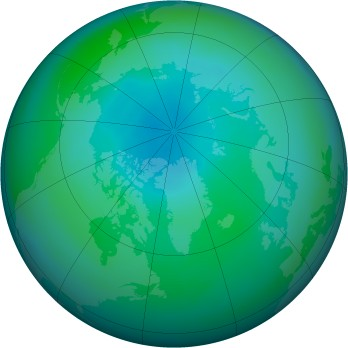 Arctic ozone map for 2005-09