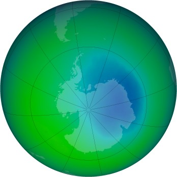 November 2005 monthly mean Antarctic ozone