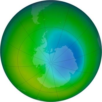 Antarctic ozone map for 2005-11