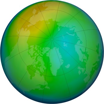 Arctic ozone map for 2005-12