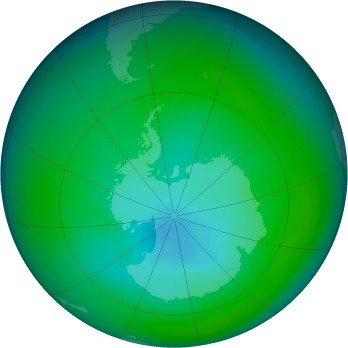 Antarctic ozone map for 2005-12