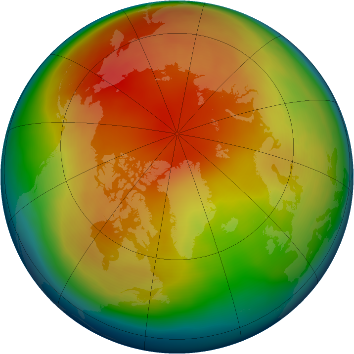 Arctic ozone map for February 2006