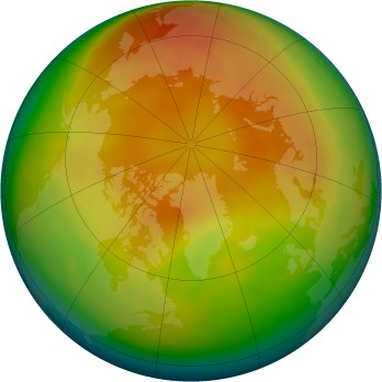 Arctic ozone map for 2006-03