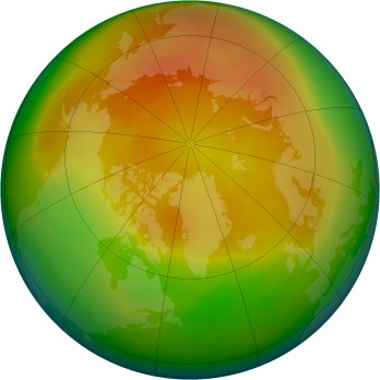Arctic ozone map for 2006-04