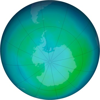 Antarctic ozone map for 2006-04