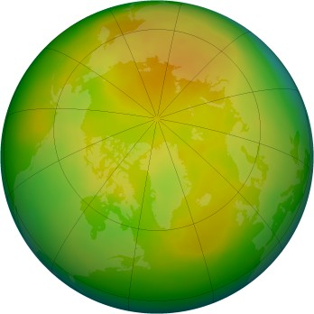 Arctic ozone map for 2006-05