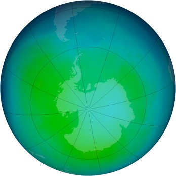 Antarctic ozone map for 2006-05