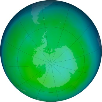 Antarctic ozone map for 2006-06