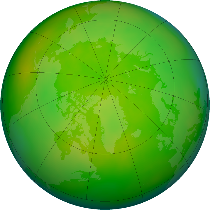 Arctic ozone map for June 2006