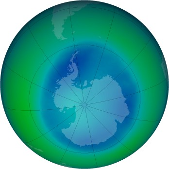 August 2006 monthly mean Antarctic ozone