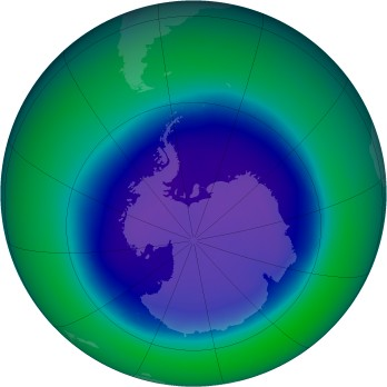 September 2006 monthly mean Antarctic ozone