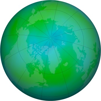 Arctic ozone map for 2006-09