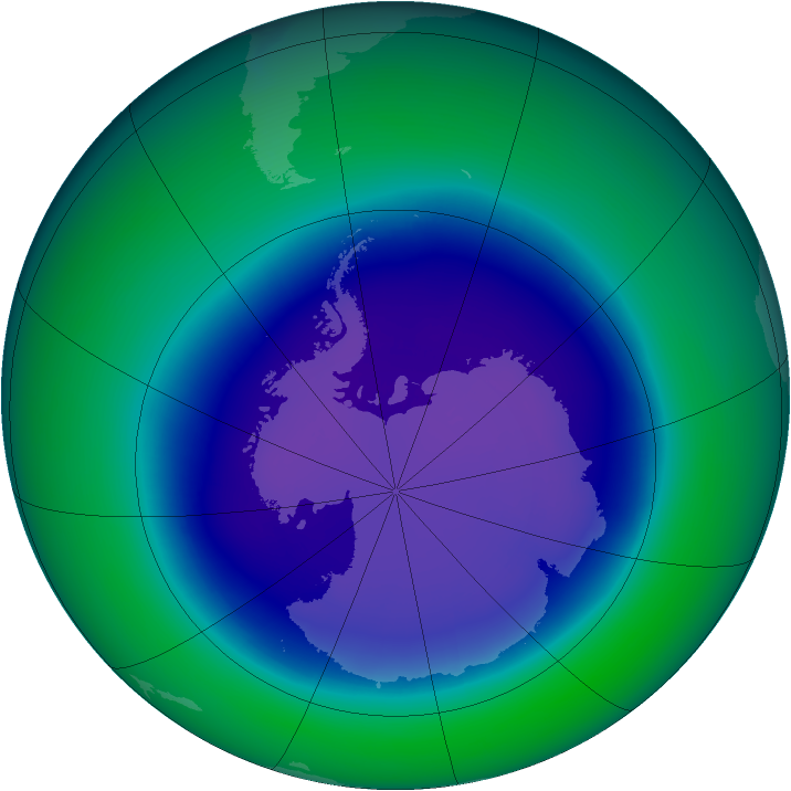 2006-September monthly mean Antarctic ozone