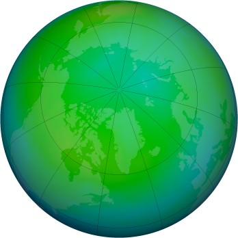 Arctic ozone map for 2006-11