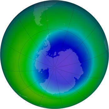 Antarctic ozone map for 2006-11