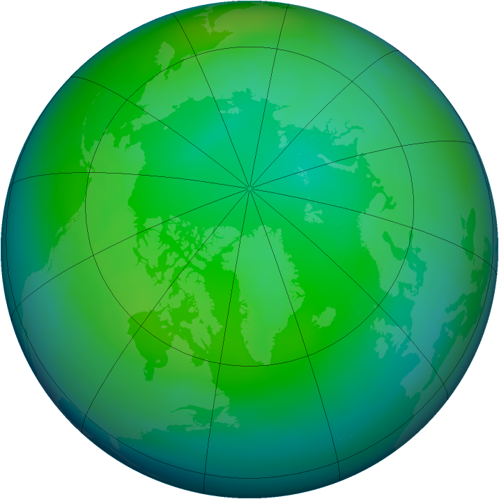 Arctic ozone map for November 2006