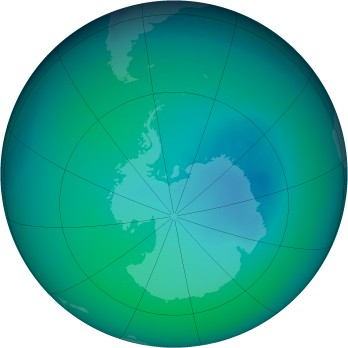 December 2006 monthly mean Antarctic ozone