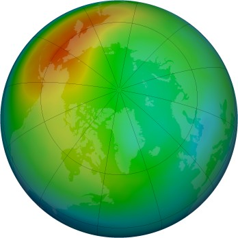 Arctic ozone map for 2006-12
