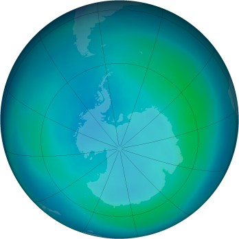Antarctic ozone map for 2007-03