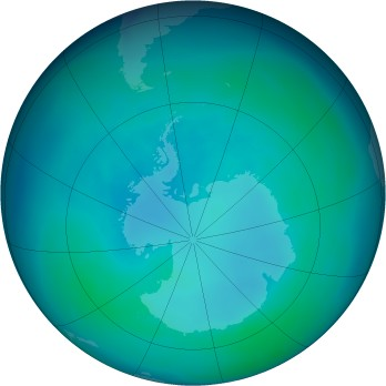 Antarctic ozone map for 2007-04