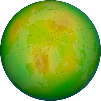 Arctic ozone map for 2007-05
