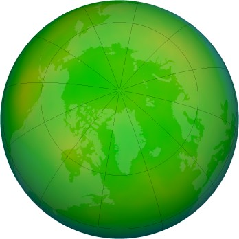 Arctic ozone map for 2007-06