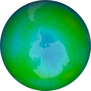 Antarctic ozone map for 2007-06