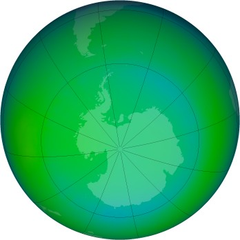July 2007 monthly mean Antarctic ozone