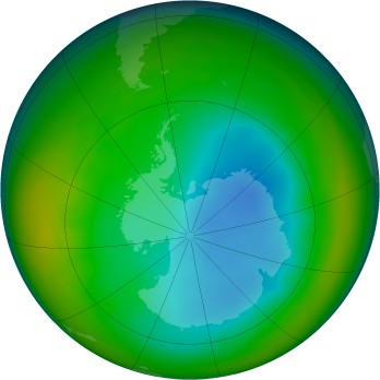 Antarctic ozone map for 2007-07