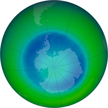 August 2007 monthly mean Antarctic ozone